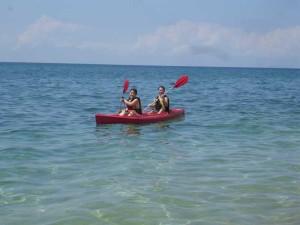 kayak with maia