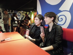 Tegan's to-die-for smirk