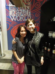 Like it's a normal event that happens all the time: a hug from Tegan with her squeezing me CLOSER
